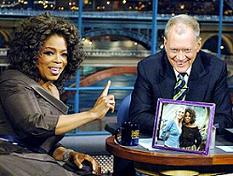Oprah on Letterman