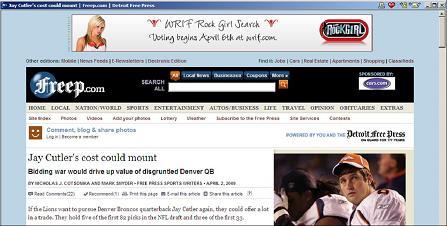 Wrif rock girl banner ad