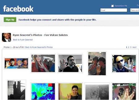 Facebook Vulcan Salute
