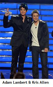 Adam Lambert and Kris Allen 2