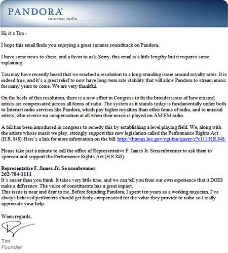 Pandora_email