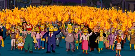 Simpson angry town all meeting