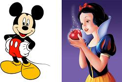 Mickey and Snow White
