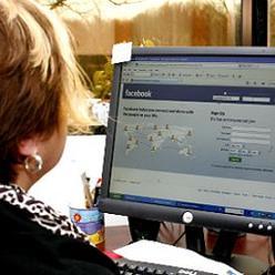 Older Female on Facebook
