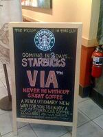 Starbucks Via Countdown
