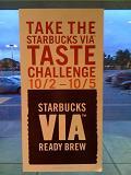 Starbucks Via Taste Challenge