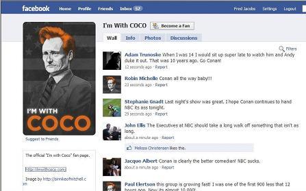 Conan Facebook Fans