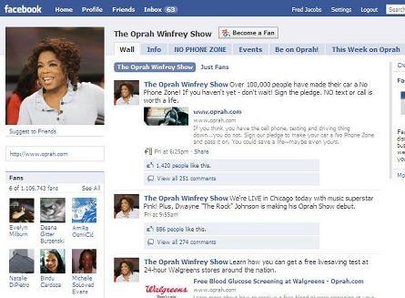 Oprah Facebook