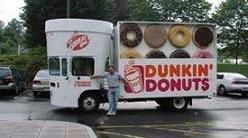 Dunkin' donuts truck