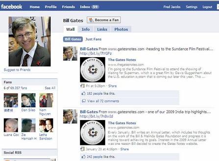 Facebook Bill Gates