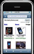 Iphone google search