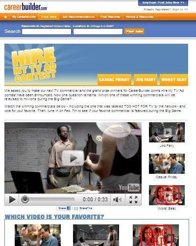 Careerbuilder TV Ad Contest