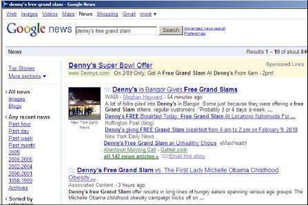 Denny's Free Grand Slam