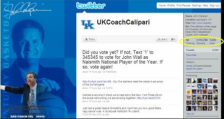 Kentucky Coach John Calipari