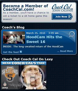 Kentucky Coach John Calipari Website