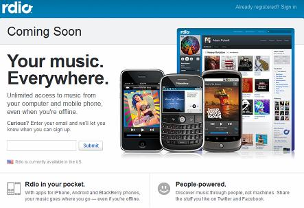 Rdio Announcement