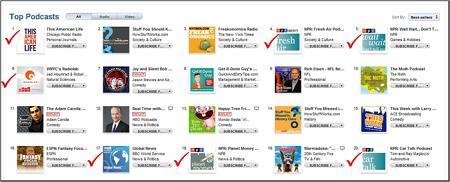 NPR iPad Podcasts
