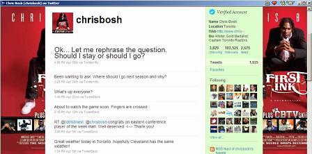 Chris Bosh Twitter