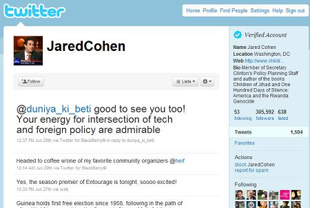Jared Cohen Twitter