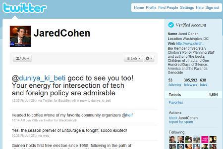 Jared Cohen Twitter