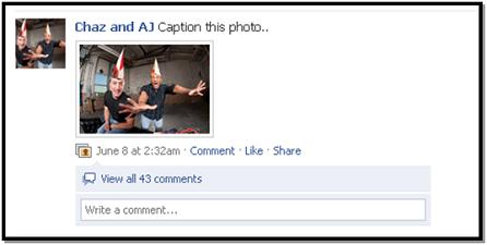 Chaz and AJ Facebook