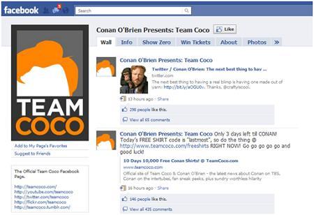 Team Coco Facebook