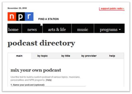 NPR Podcast Directory