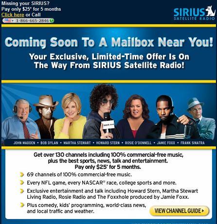 Sirius XM Ad