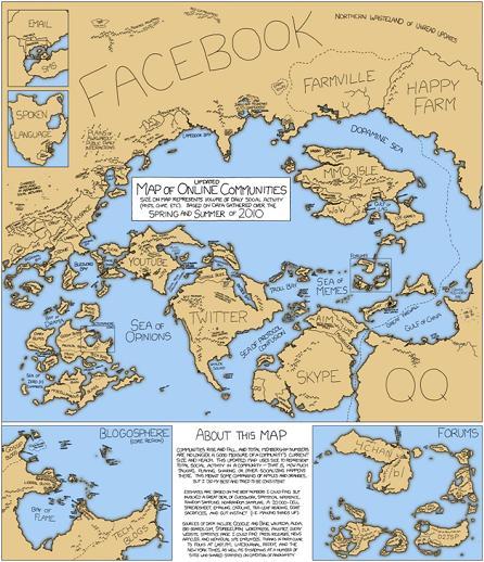 Facebook - Map of Online Communities