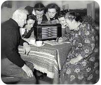 Old Days Radio Listening