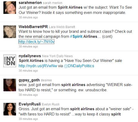 Spirit Airlines_Weiner Tweets