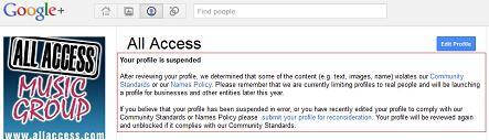 All Access_Profile Suspension Notice